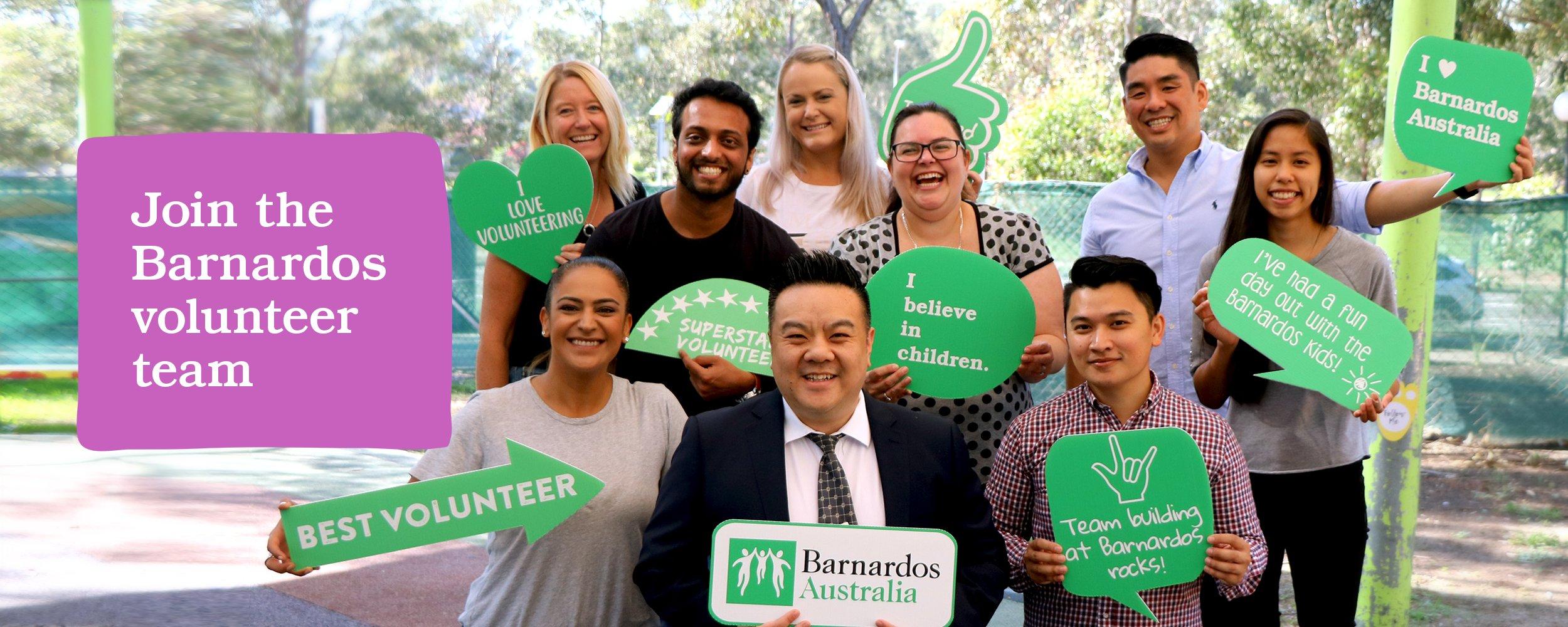 Join the Barnardos volunteer team